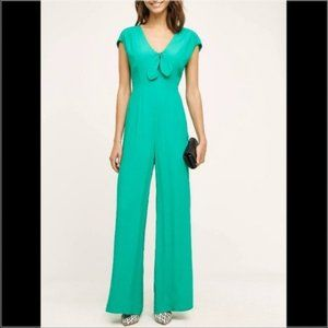 Anthro Knotted Wide Leg Jumpsuit Harlyn Pantsuit